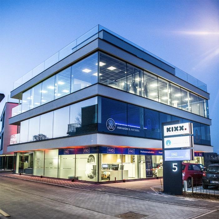 Het kantoor van digital agency Digital KIXX in de Autobaan te Loppem.